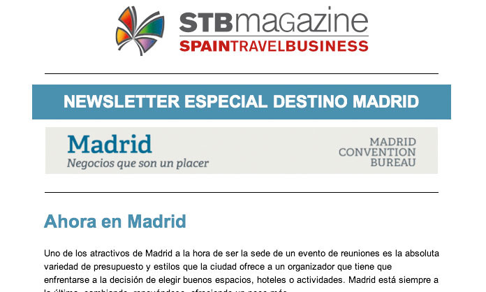 Newsletter especial Madrid para STB