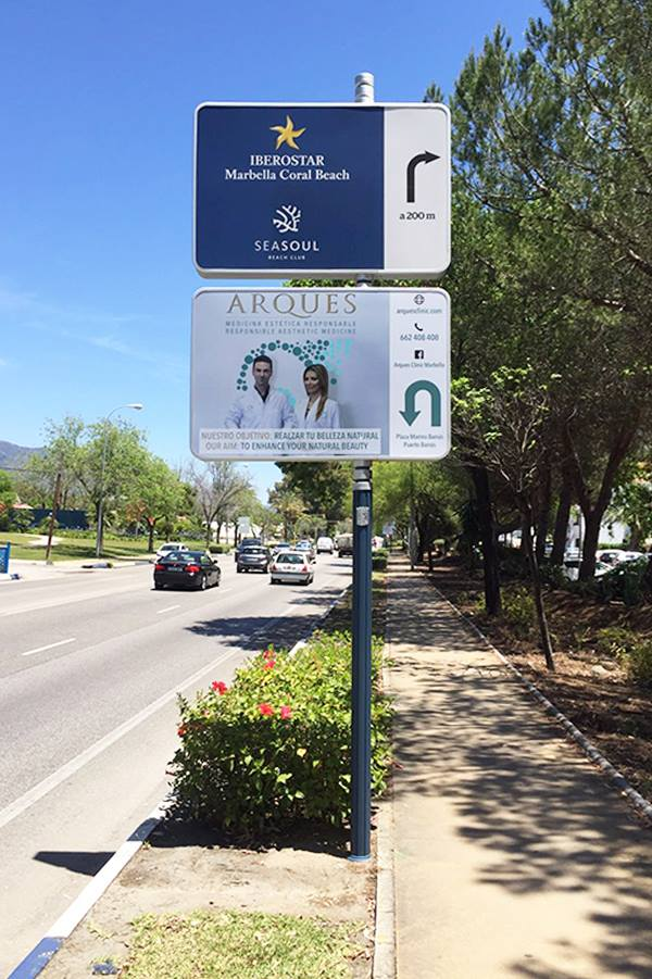 InfoBox advertisement design for Arques Clinic