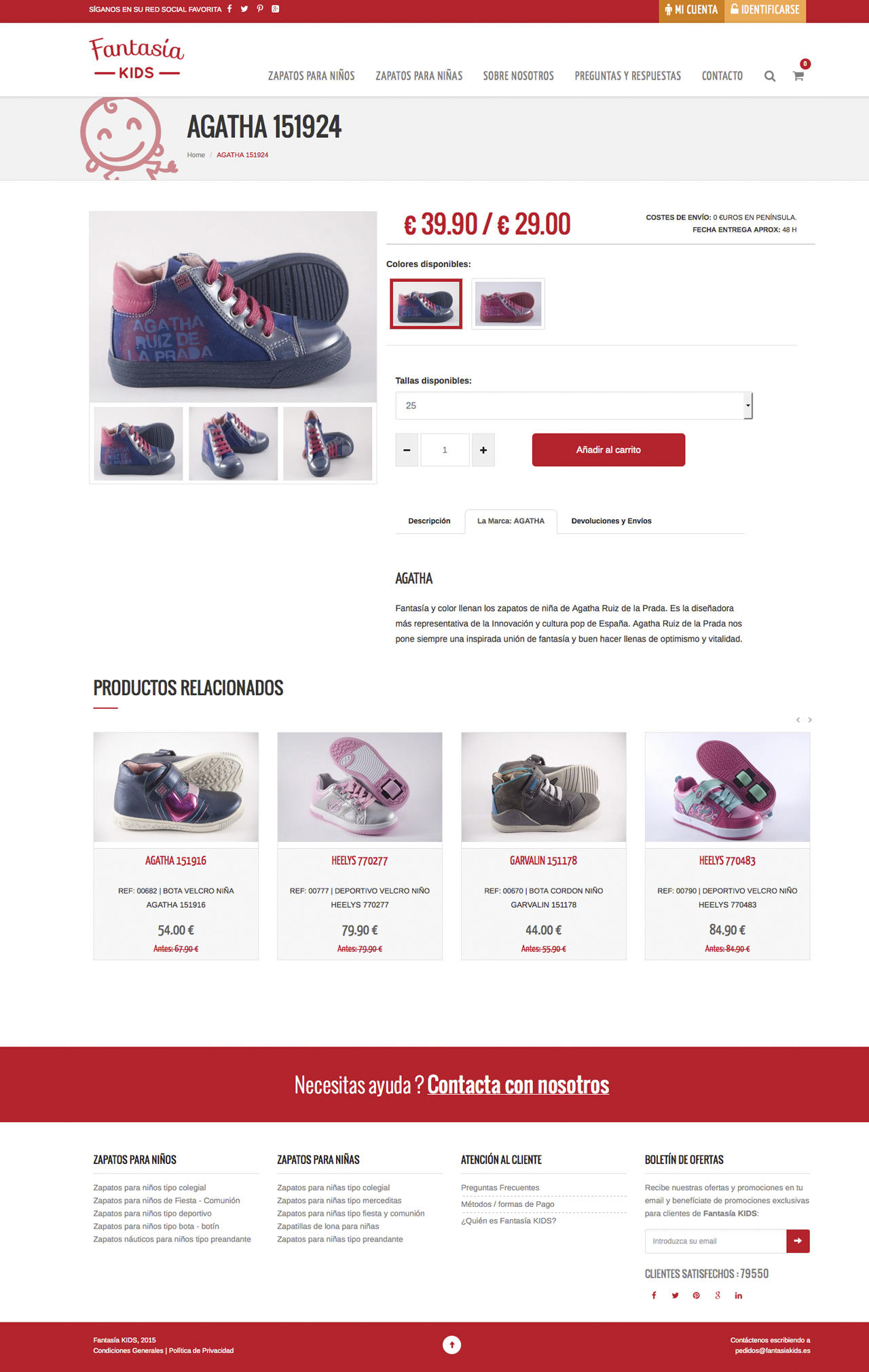 Web design and development for Fantasía Kids