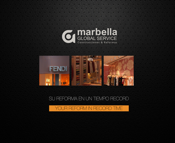 Corporate Brochure Design for top construction and renovation Company Marbella Global Services