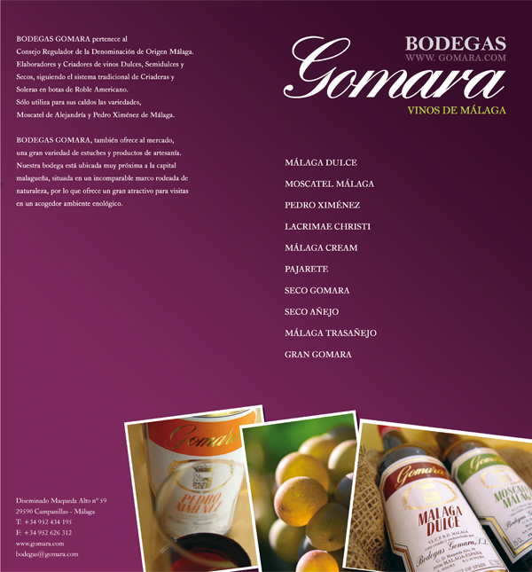 Bodegas Gomara Catalogue Design