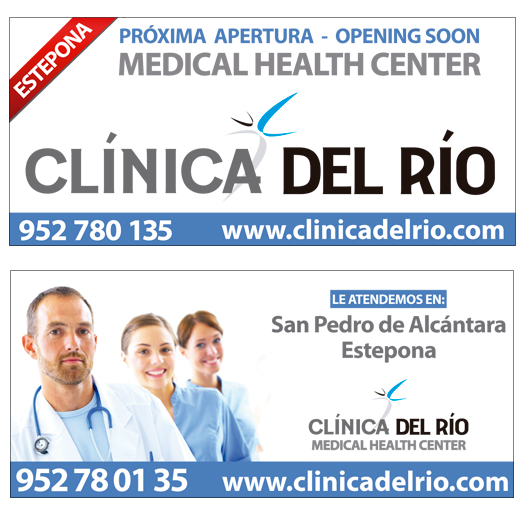Design and marketing of Billboards for Clínica del Río. Positioning of Clinics in Marbella and Estepona.