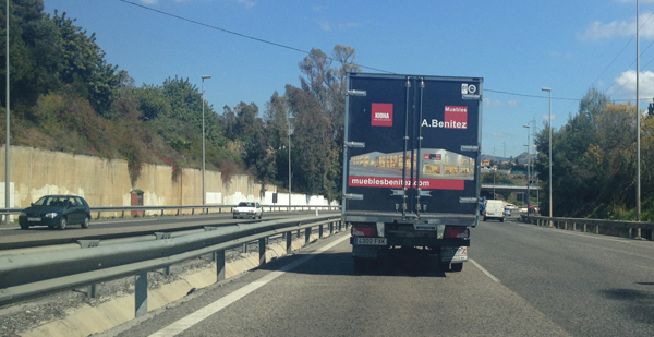 Vehicles sign for furniture a benitez company - Muebles benitez malaga ...