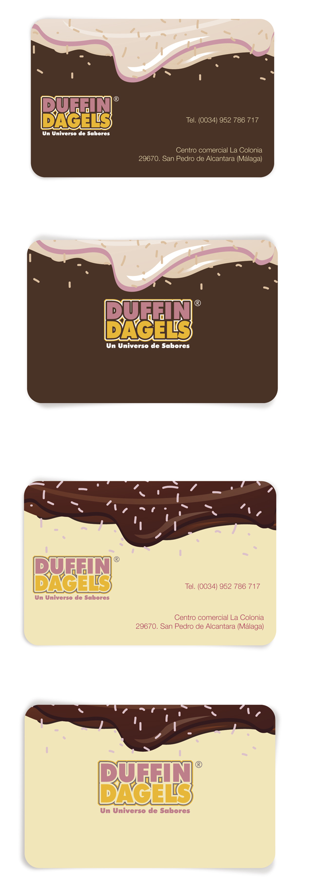 Duffin Dagels Business Cards