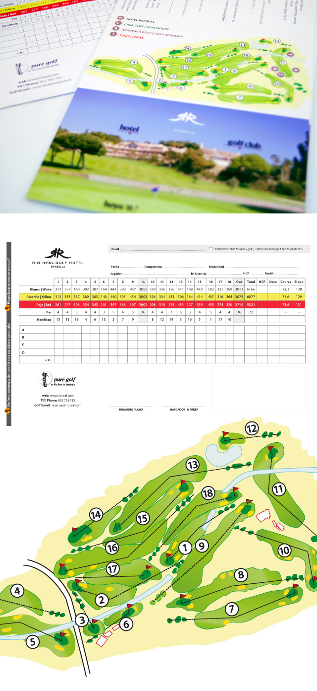 Golf Course Card Design