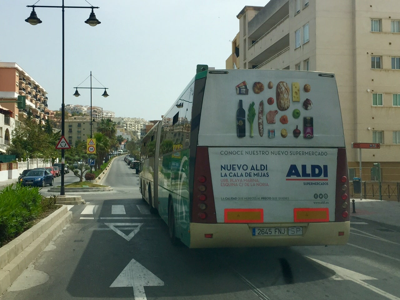 Outdoor advertising campaign for Aldi Supermarket