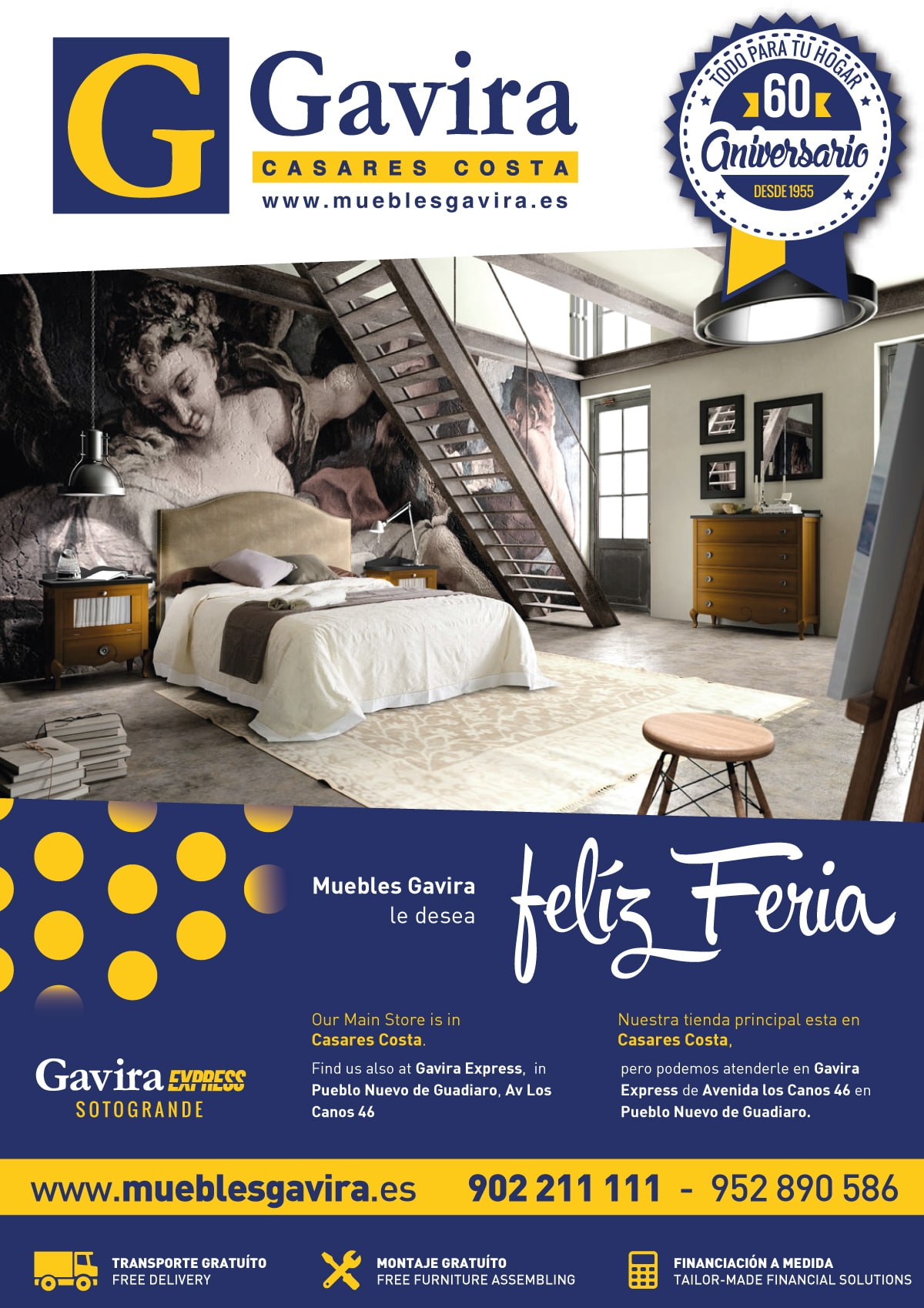 Magazine advertisement design for Muebles Gavira