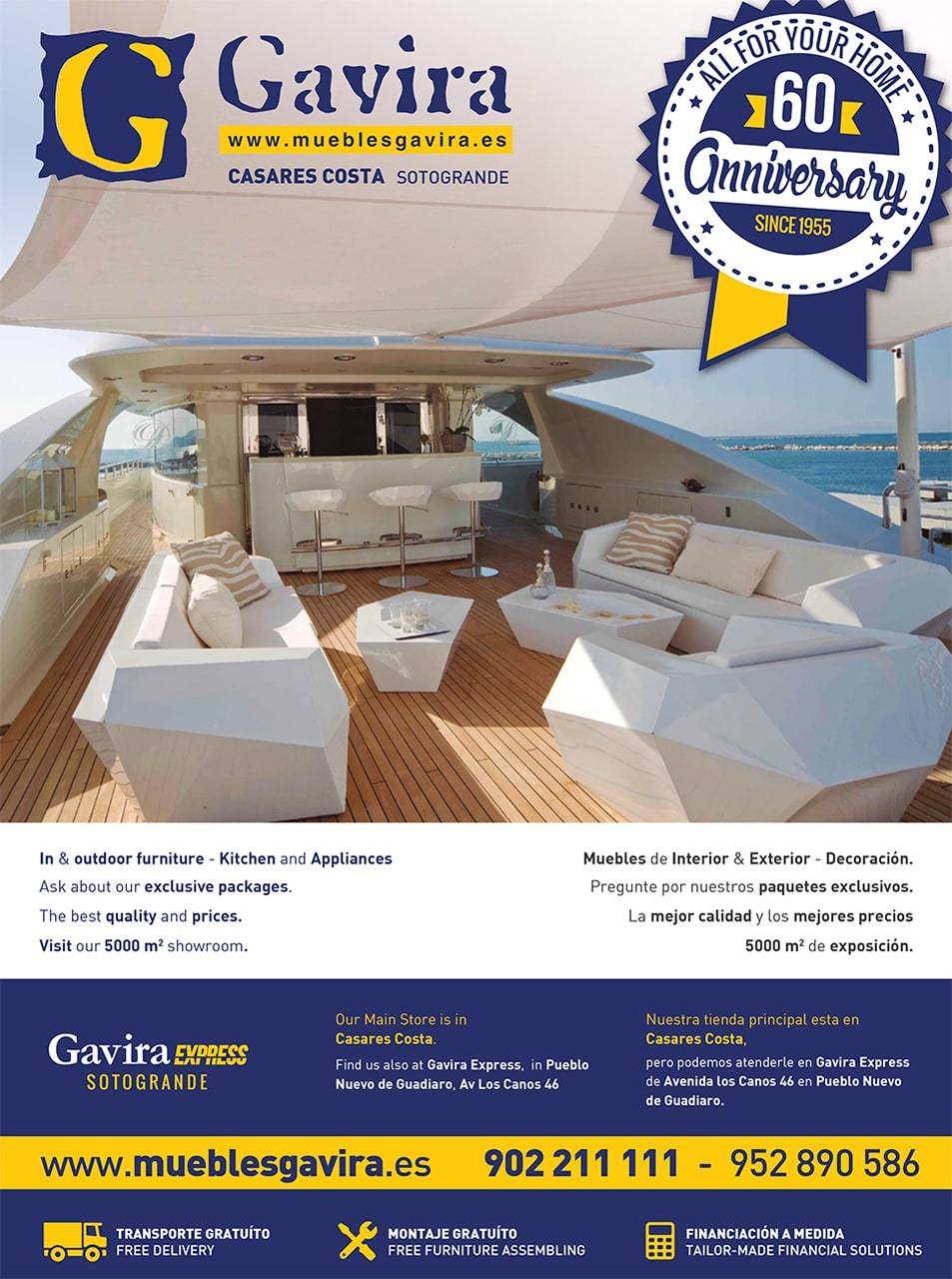 Muebles Gavira advertisement design for Sotogrande Magazine