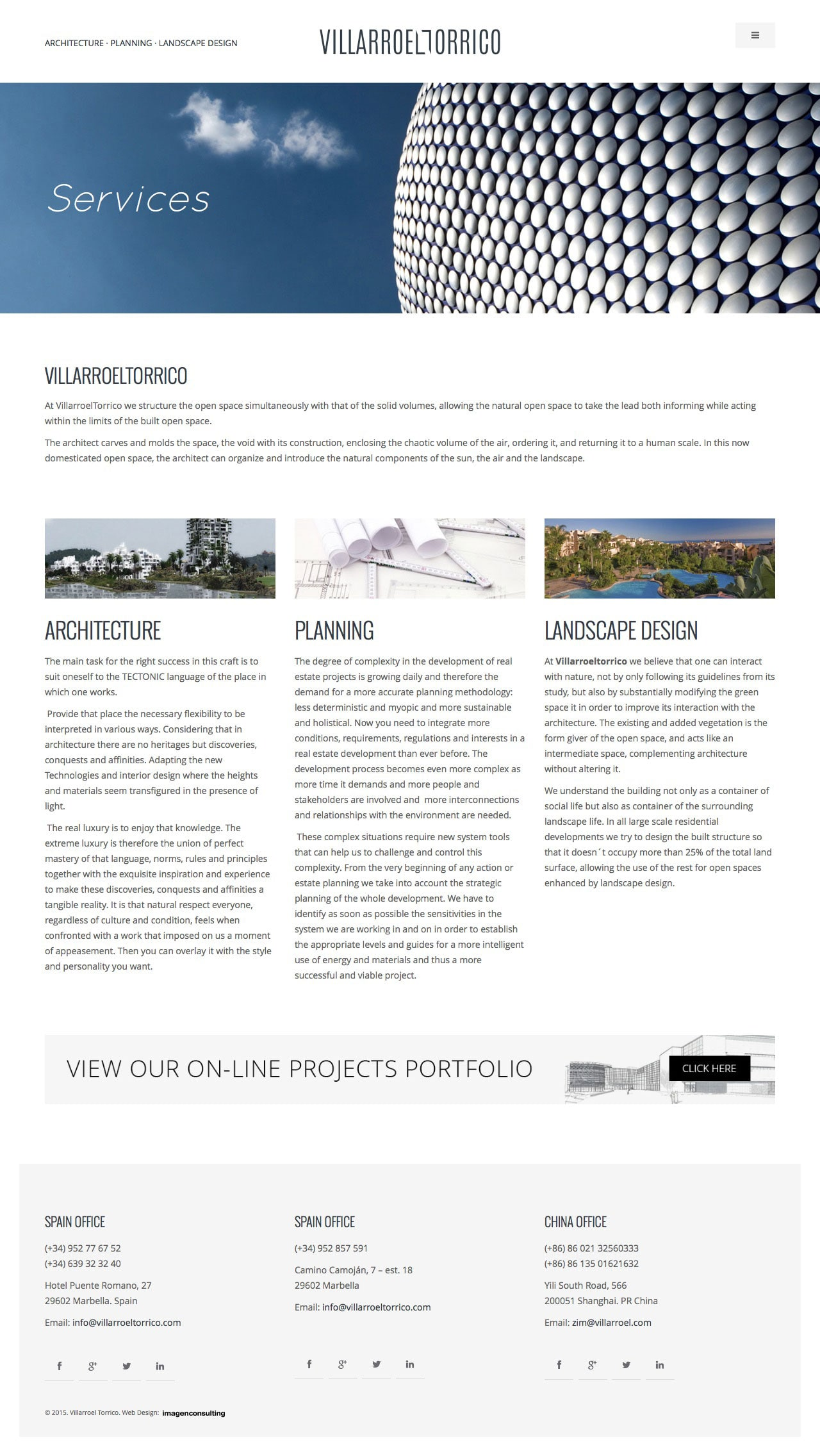 Corporate web design for Villarroeltorrico