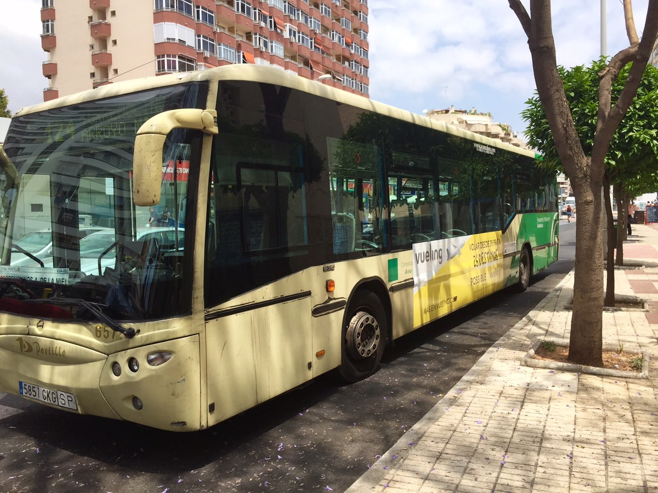 Bus advertising campaign along Costa del Sol for Vueling