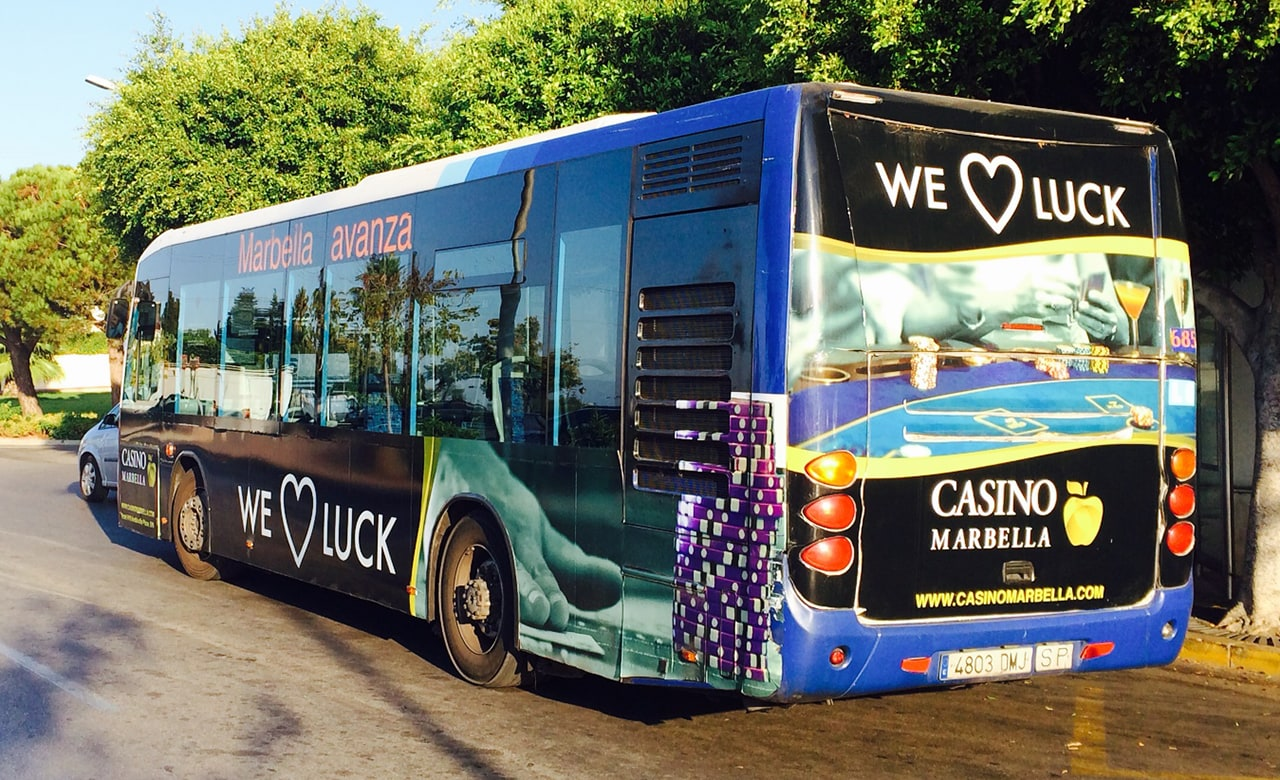 Bus Advertising Campaign For Casino Marbella Advertising
