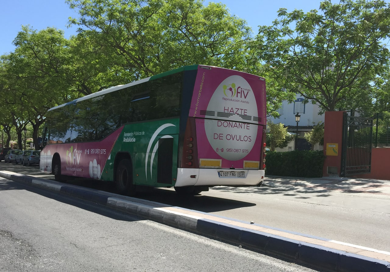 Outdoor advertising campaign in Marbella buses for FIV Marbella