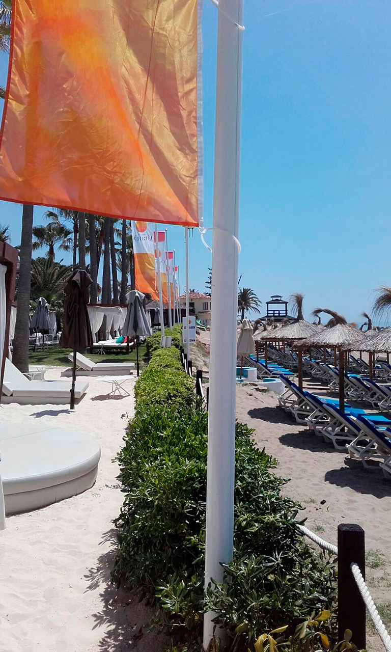 Flags production and installation for Orange Beach Club