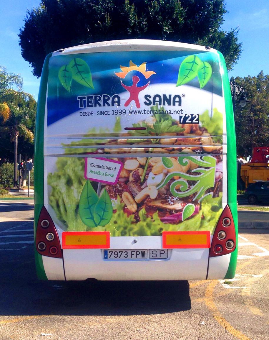 Bus advertising campaign for Terrasana