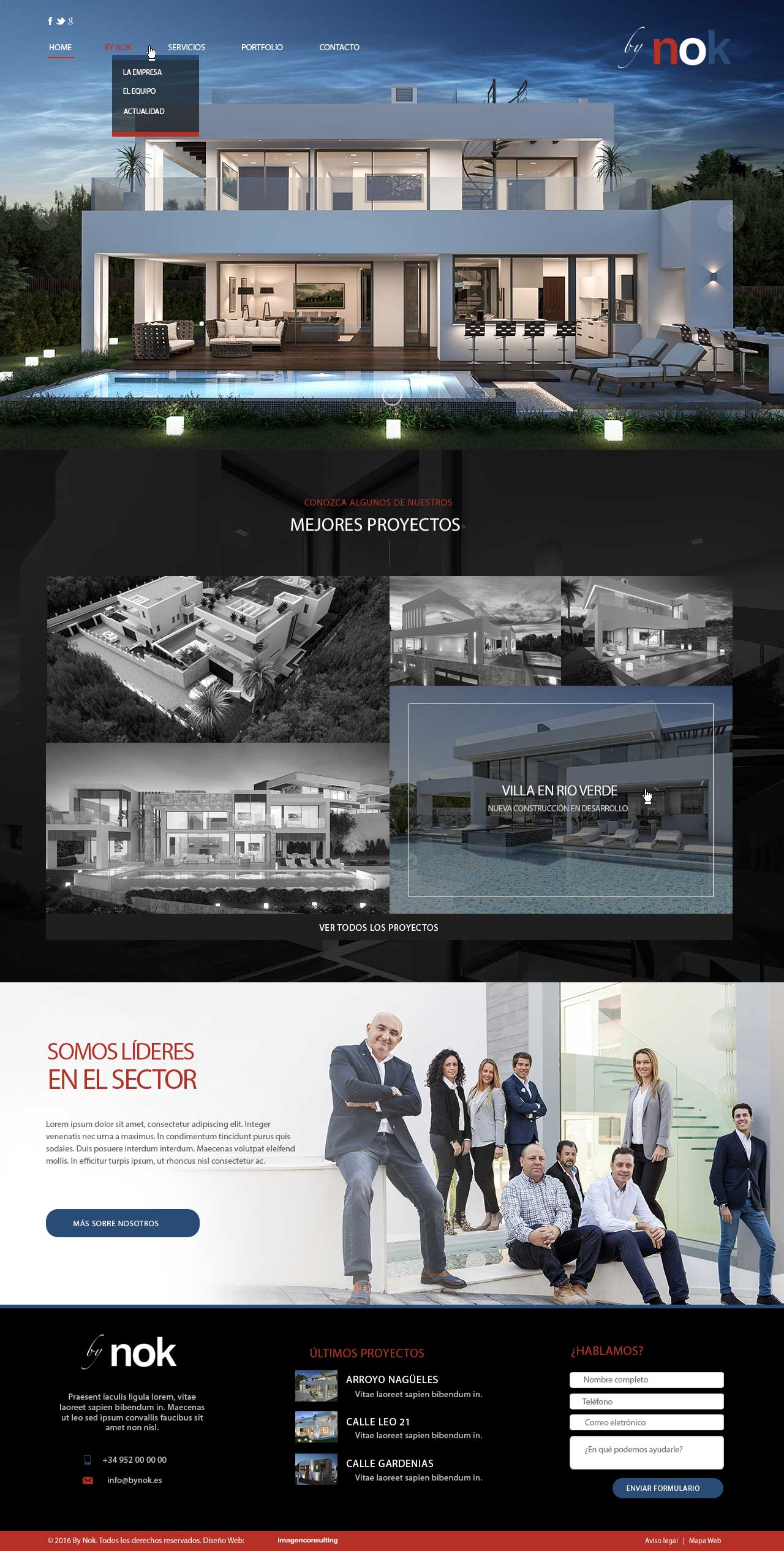 Web design for by Nok architecture