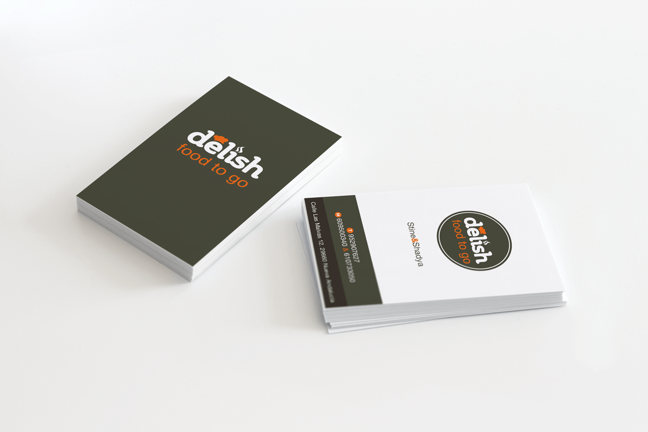 Business card design for Delish in Marbella