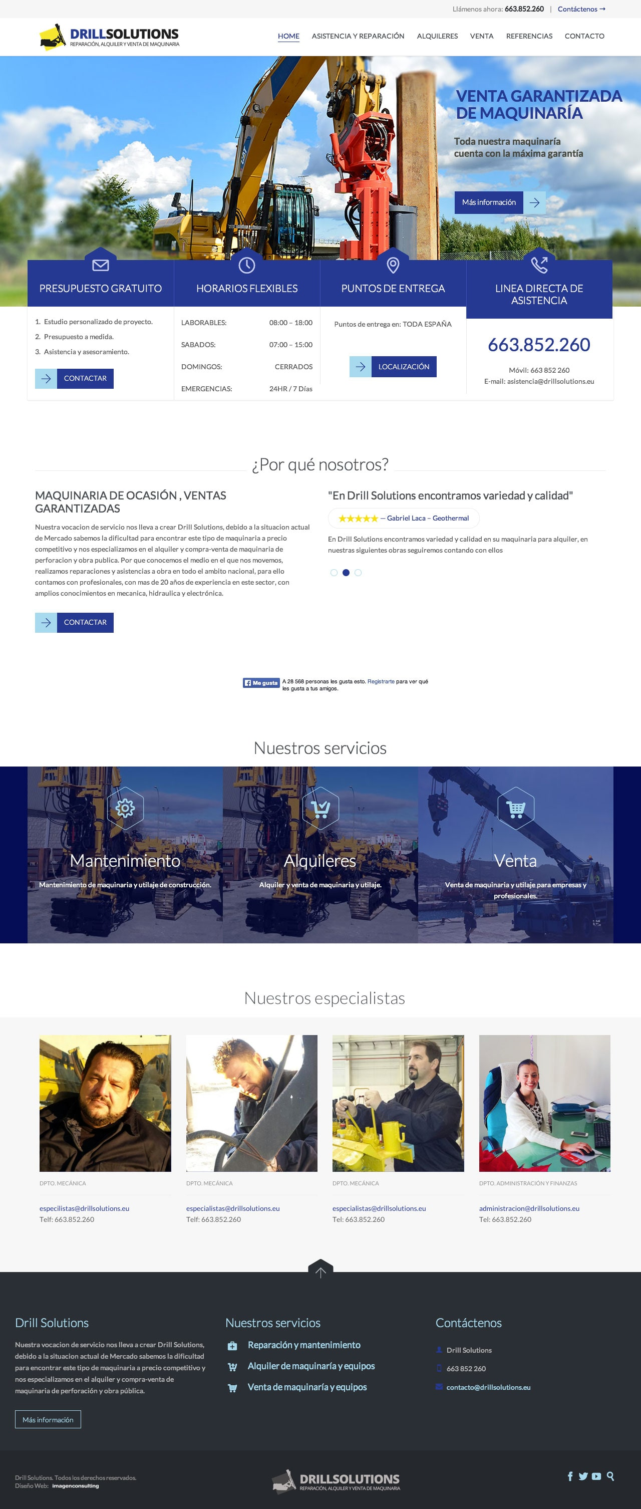 Corporative web design for Drill Solutions