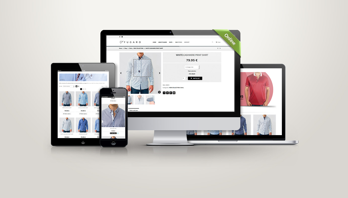 Shop online design and development for Fugaro
