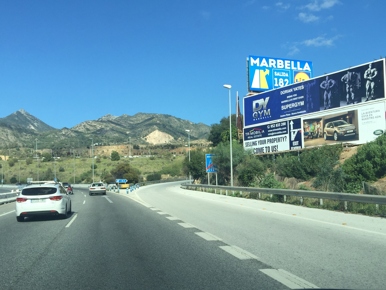 Advertising billboards campaign for DY GYM Marbella