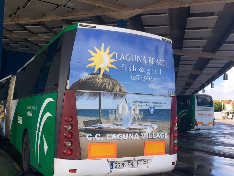 Advertising bus campaign for Bounty Beach