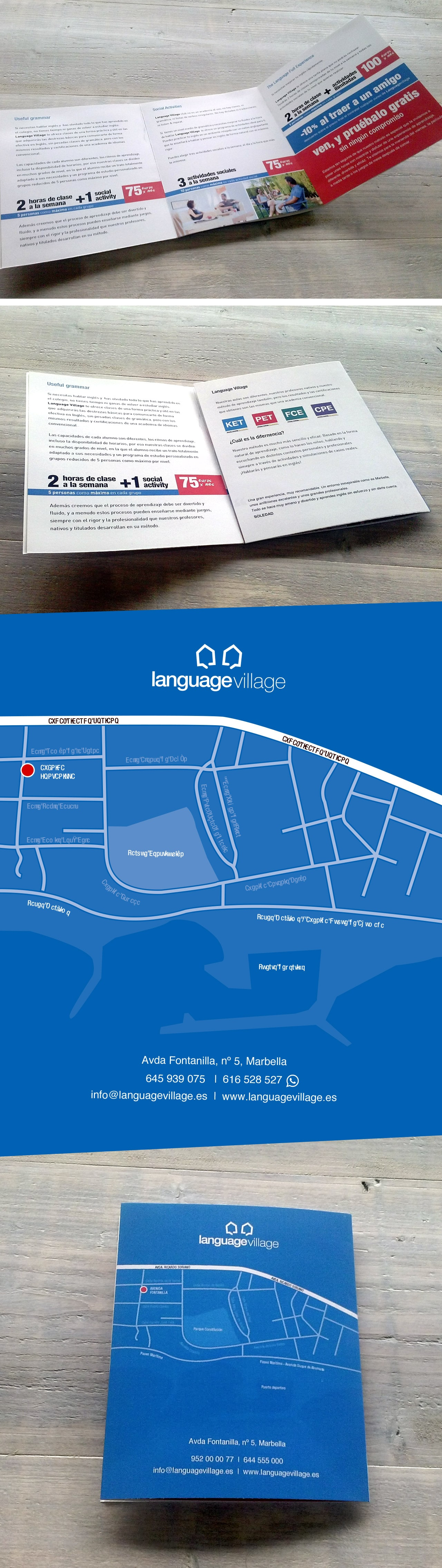 Commercial catalogue design and printing for Language Village Academy