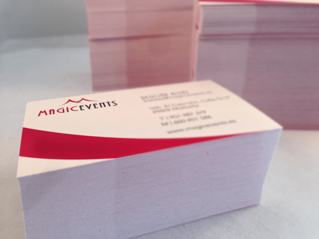 Design of business cards for Magic Events