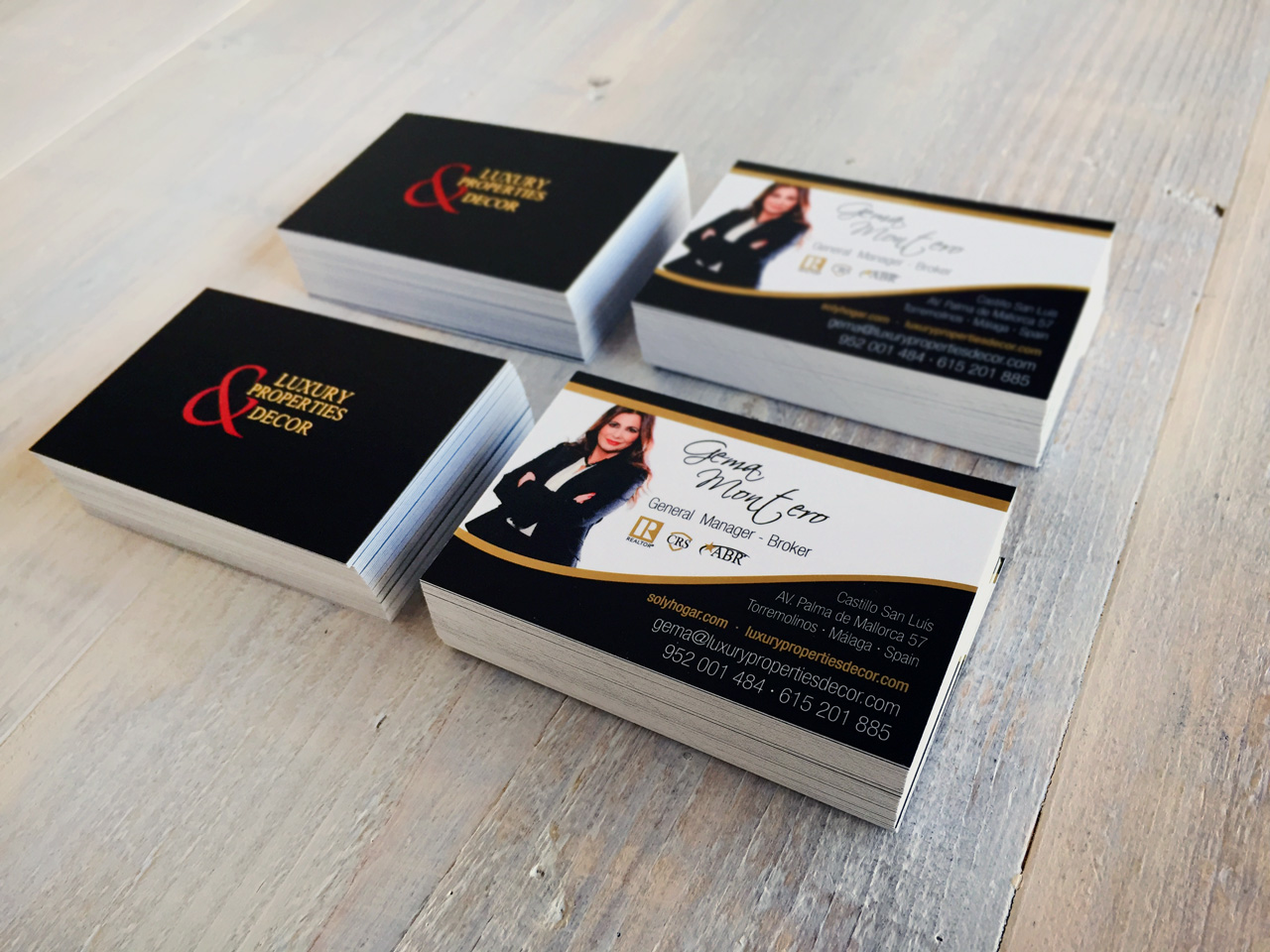 Business card printing for Luxury Properties & Decor