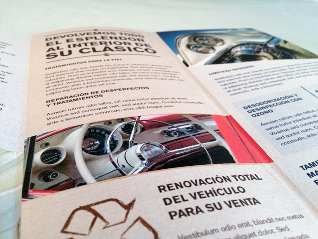 Diseño trípticos corporativos para Car Care