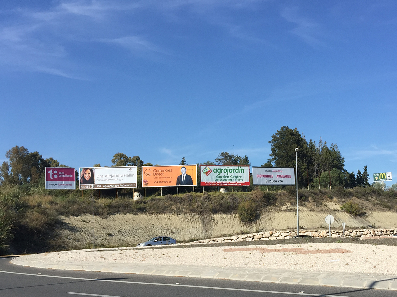 Advertising billboard in Marbella for Hallin Centre