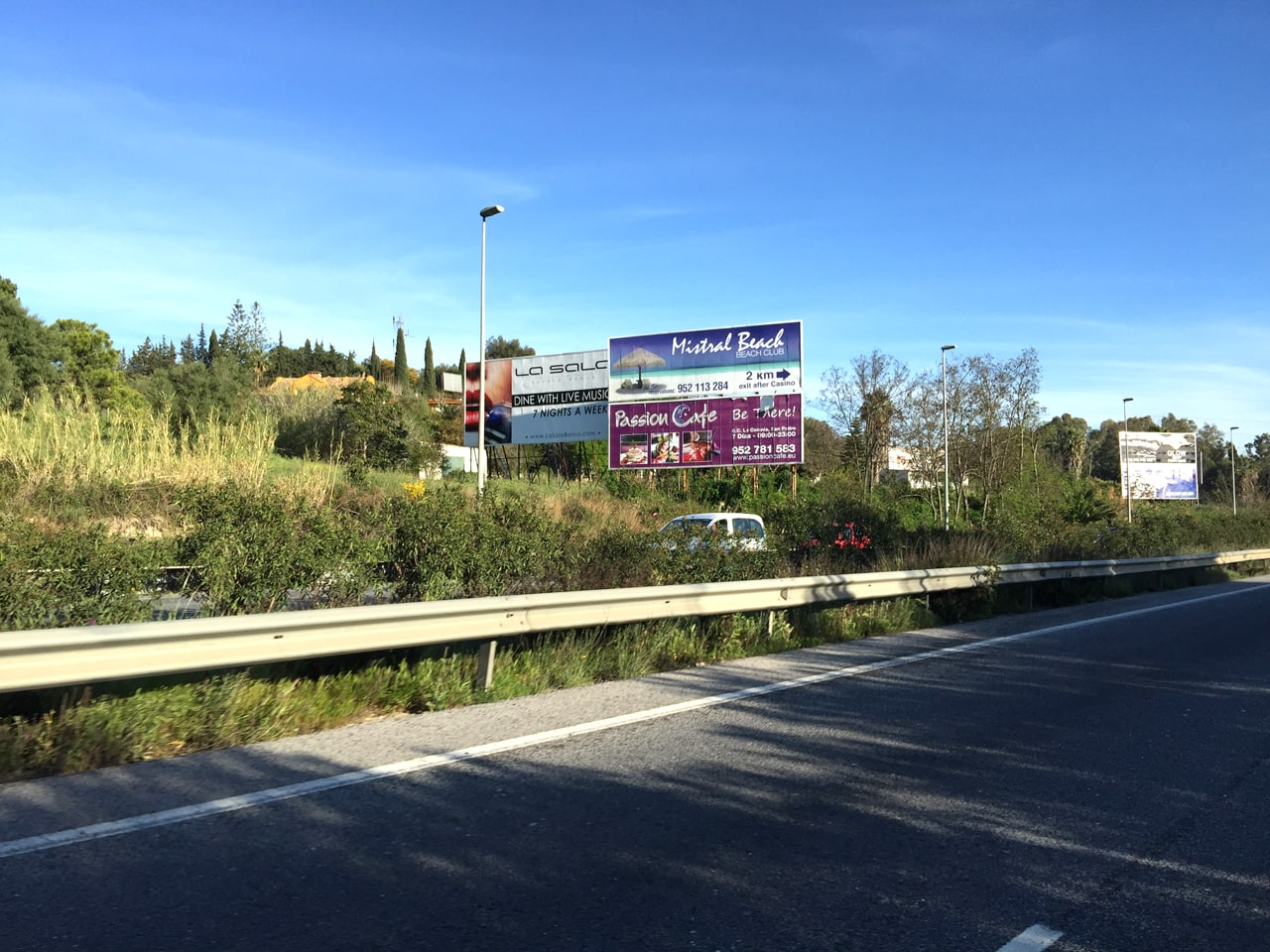 Advertising billboard design and hiring for Mistral Beach in Puerto Banús